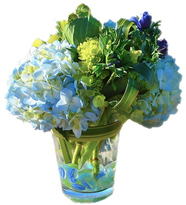 Beach Blues Flower Arrangement