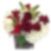 Garnet and Ivory Flower Arrangement