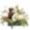 Calla Lily & Pine Cones Flower Arrangement