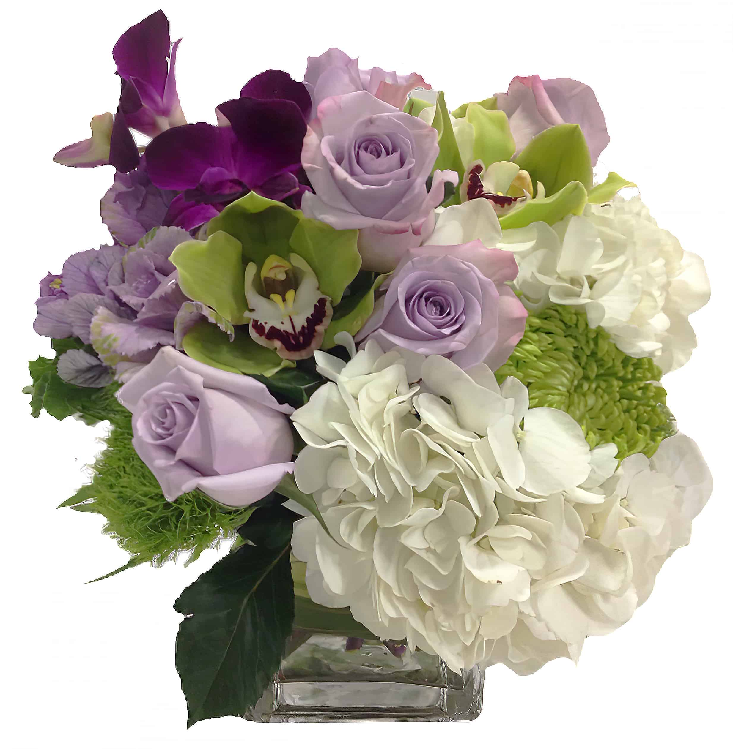 Amethyst Flower Arrangement | San Francisco Florist Since 1871 Free Bay Area and San Francisco Flower Delivery