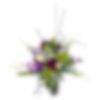 Burgundy and Lime Floral Arrangement