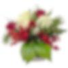 Seasonal Reds and Whites Flower Arrangement